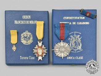 Venezuela, Bolivarian Republic. Two Awards
