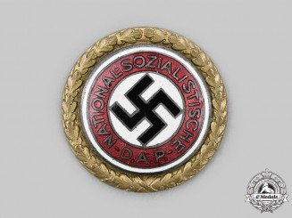 Germany, NSDAP. A Golden Party Badge, by Deschler & Sohn
