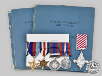 Canada, Commonwealth. An Air Force Cross & Logbook Group to S/Lr Charles G. Harville