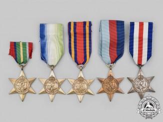 United Kingdom. Lot of Five Second War Stars