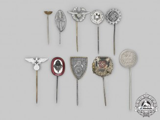 Germany, Third Reich. A Mixed Lot of Stick Pins
