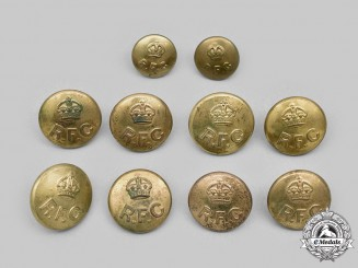 United Kingdom. Lot of Ten First War Royal Flying Corps (RFC) Buttons