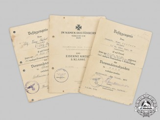 Germany, Heer. A Lot of Award Documents to Obergefreiter Franz Seifert, 8th Panzer Division