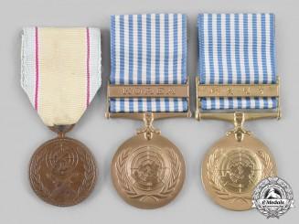 Korea, Republic; United Nations. A Korean War Lot of Three Medals