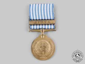 Greece, Hellenic Republic; United Nations. A United Nations Service Medal for Korea with Greek Text