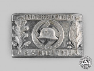 Germany, Third Reich. A 1935 National Socialist German Frontline Fighters' League Dortmund Meeting Badge