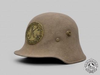 Hungary, Kingdom. A Rare Austro-Hungarian Veteran's Stahlhelm-Style Felt Helmet