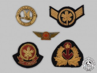 Canada, Commonwealth. A Lot of Five Airline Insignia