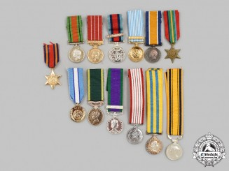 United Kingdom, Canada, United Nations. A Lot of Thirteen Miniature Awards