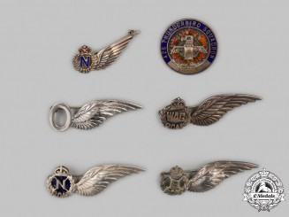 Canada. Six Second War Royal Canadian Air Force (RCAF) Badges