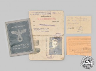 Germany, Third Reich. A Pair of Foreign Labourer Identity Documents