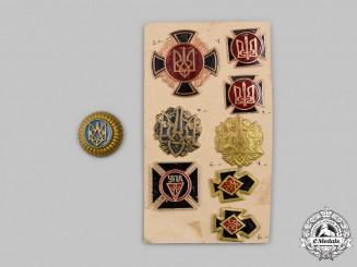 Ukraine. A Lot of Ukrainian Insurgent Army Veteran's Badges