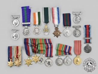 United Kingdom, Canada. A Lot of Nineteen Miniature Medals