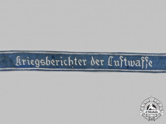 Germany, Luftwaffe. A War Correspondent Officer's Cuff Title