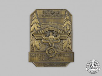 Germany, NSKK. A NSKK Thuringia District Orientation Trip Commemorative Plaque