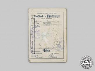 Germany, OT. An Organisation Todt Dienstbuch to Arthur Krause