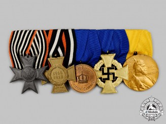 Germany. An Imperial and Third Reich Period Non-Combatant's Medal Bar