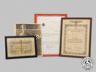 Germany, Wehrmacht. A Lot of Certificates, with Veteran's Photo