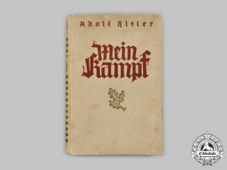 Germany, Third Reich. A Wartime Edition of Mein Kampf, Volume I