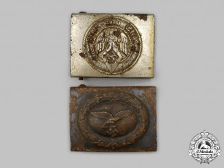Germany, Third Reich. A Pair of Relic Belt Buckles