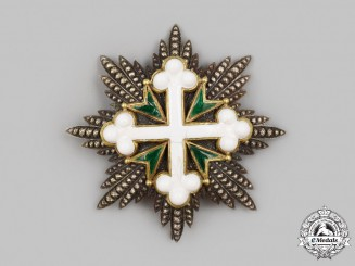Italy, Kingdom. An Order of St. Maurice and St. Lazarus, I Class Grand Cross Star, by Cravanzola, c.1910