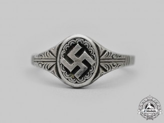Germany, Third Reich. A Silver Patriotic Ring