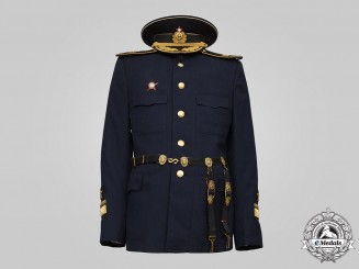 Russia, Soviet Union. A Navy Rear-Admiral's Service Dress Cap, Tunic, & Dagger Hangers, c.1980