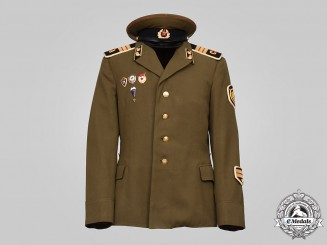 Russia, Soviet Union. A Red Army Artillery/Motor Troops Sergeant's Demobilization Uniform Cap & Dress Tunic