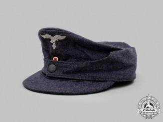 Germany, Luftwaffe. A Luftwaffe EM/NCO's Bergmütze-Style Field Cap