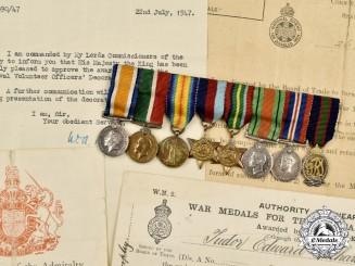 United Kingdom. The Miniature Awards Commander Tudor Edward Richard Morphy, VFD, Royal Naval Volunteer Reserve