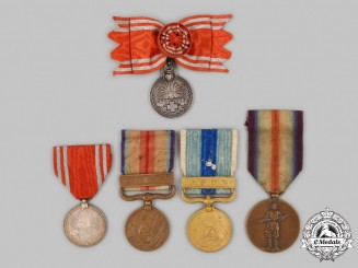 Japan, Empire. Five Medals & Awards