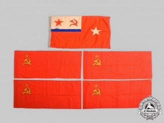 Russia, Soviet Union. A Lot of Five Flags