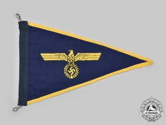 Germany, Kriegsmarine. An Officer's Vehicle Service Pennant
