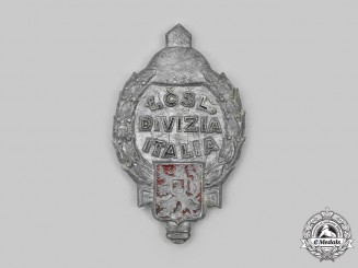 Czechoslovakia, I Republic. A 1st Czechoslovak Division in Italy Badge