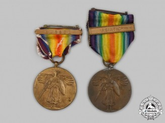 United States. Two World War I Victory Medals
