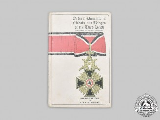 Germany, Third Reich. Orders, Decorations, Medals and Badges of the Third Reich (Including the Free City of Danzig)