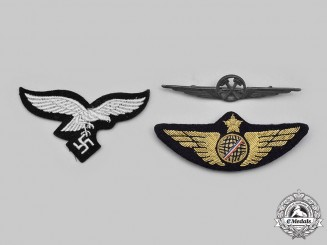 Germany, Third Reich; Italy, Kingdom; International. A  Lot of Three Air Force Badges