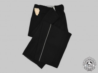 Germany, SS. A Pair of Mint SS Black Uniform Service Trousers, by Otto Bär