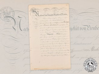 Prussia, Kingdom. A Promotion Document to 1st Lieutenant During Franco-Prussian War, 1870