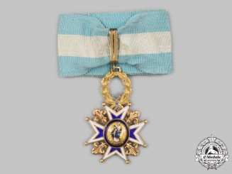 Spain, Kingdom. An Order of Charles III, Royal & Distinguished Spanish Order of Charles III, IV Class Commander in Gold