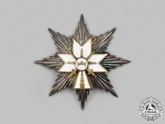 Croatia, Independent State. An Order of the Crown of King Zvonimir, I Class with Swords Star, c.1941