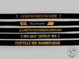 Germany. A Mixed Lot of Cap Tally Ribbons