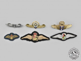 Colombia, Guatemala, Israel, South Africa, International. A Lot of Six Air Force Badges