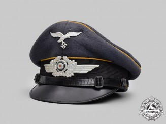 Germany, Luftwaffe. A Flight Personnel EM/NCO's Visor Cap