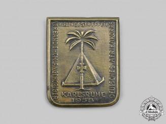 Germany, Federal Republic. A 1958 Karlsruhe Afrika Korps Veterans Meeting Badge