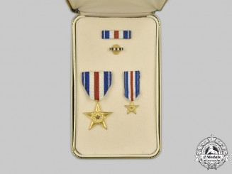 United States. A Silver Star, Cased