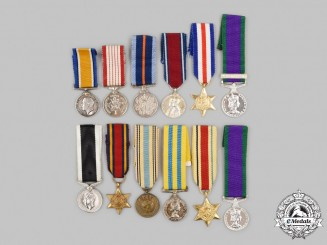 United Kingdom, Canada, United Nations. A Lot of Twelve Miniature Awards