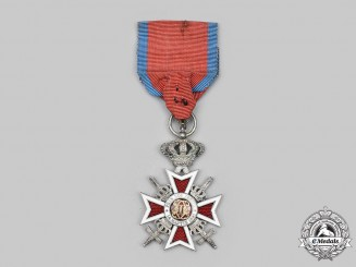 Romania, Kingdom. An Order of the Crown, V Class Knight, Military Division, c.1940