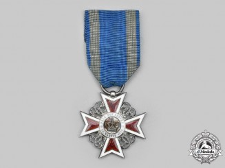 Romania, Kingdom. An Order of the Crown, V Class Knight, Civil Division, c.1940