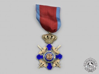 Romania, Kingdom. An Order of the Star, V Class, Officer Military Division